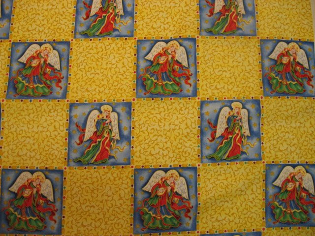 Angels Christmas Block Form Quilt Sewing Fabric