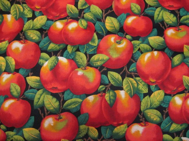 Country Apples Fruit Harvest Food 100% cotton sewing Fabric by the yard
