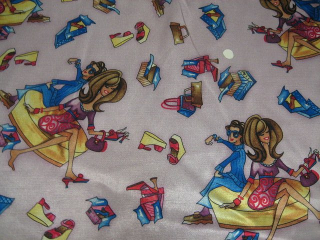Image 0 of Shopping Divas Shoes Bags Flannel Backed Satin by the yard