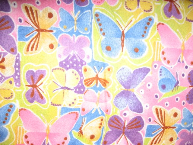 Butterfly Moth 100% Cotton Flannel 1yd 34 piece