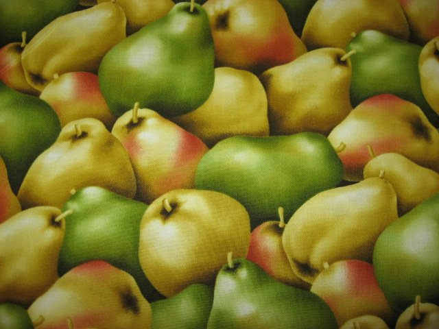 Kyle's Marketplace Pears RJR Fabric FQ or 1/4 yard