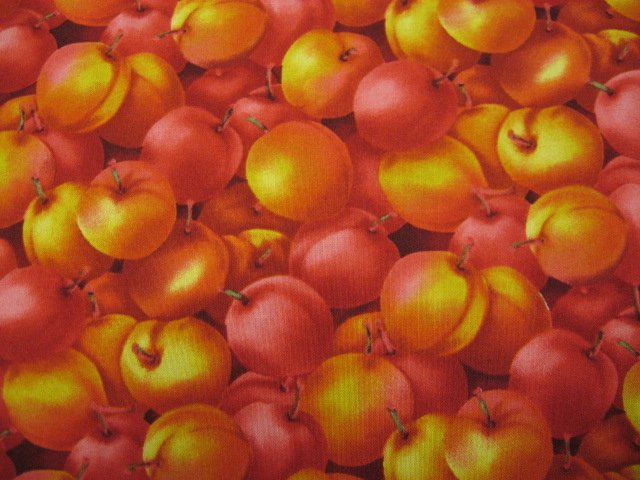 Kyle's Marketplace Nectarines RJR Fabric FQ or 1/4 yard