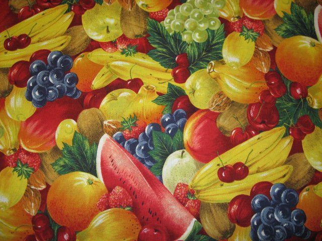 Kyle's Marketplace Fruit Salad Quilt Fabric Fat quarter or 1/4 yard