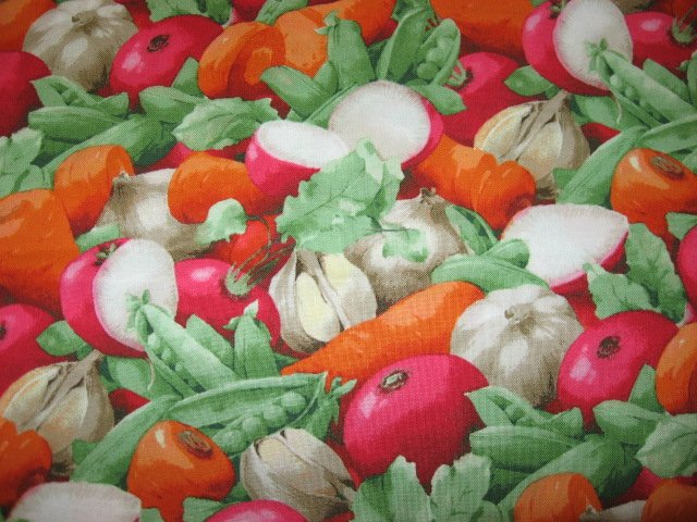Image 0 of Kyle's Marketplace Stew Vegetables RJR Fabric FQ or 1/4 yard