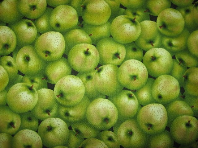 Image 0 of Kyle's Marketplace Green Apples RJR Fabric FQ or 1/4 yard FQ