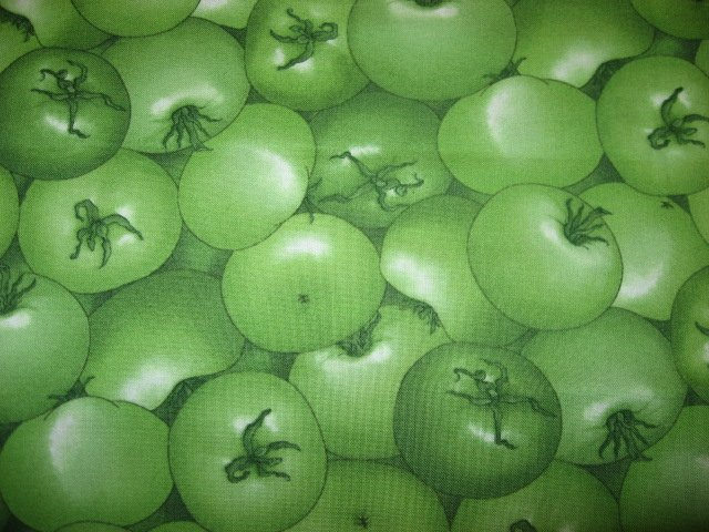 Green Tomatoes Out of print one quarter yard Fabric or Fat Quarter