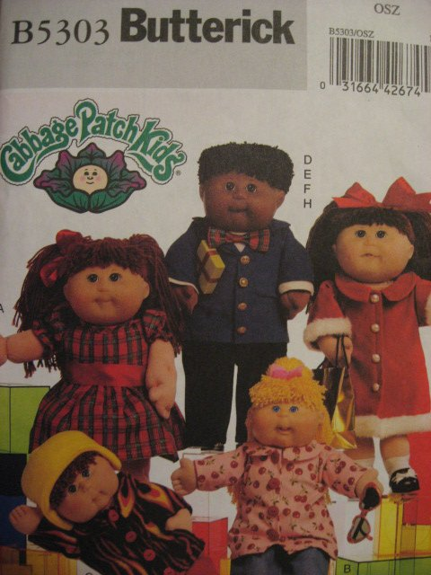 Butterick 5303 sewing pattern Cabbage Patch doll 16 and 20 clothes to sew
