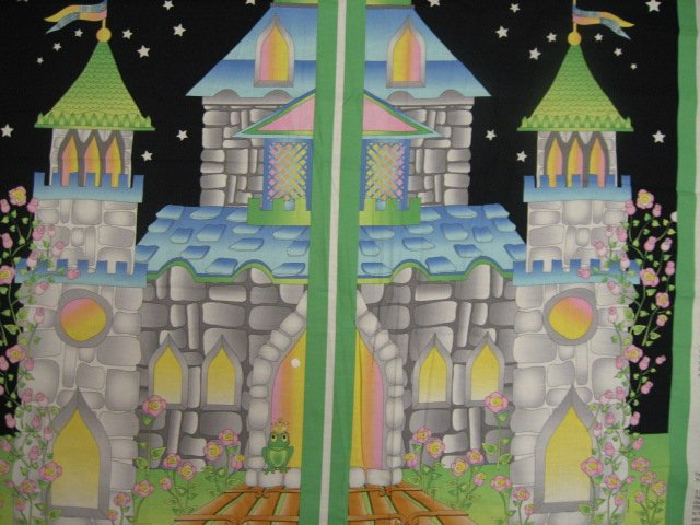 Image 1 of Princess Castle Table Top Avlyn Quality Cotton Fabric Panel Rare/