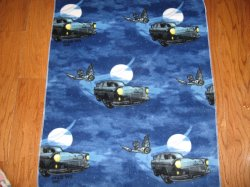 Harry Potter Car Owl Baby or Toddler day care Fleece Baby Blanket