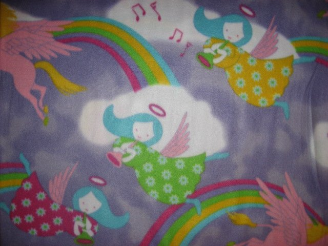 Angels Unicorn fleece blanket  Child bed size Antipill  Lilac /