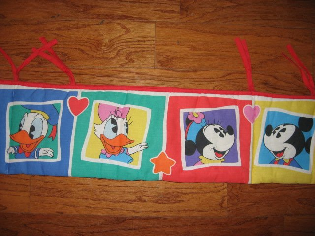 Disney Mickey Mouse Donald Duck Daisy bumper pad for Baby crib Primary Color