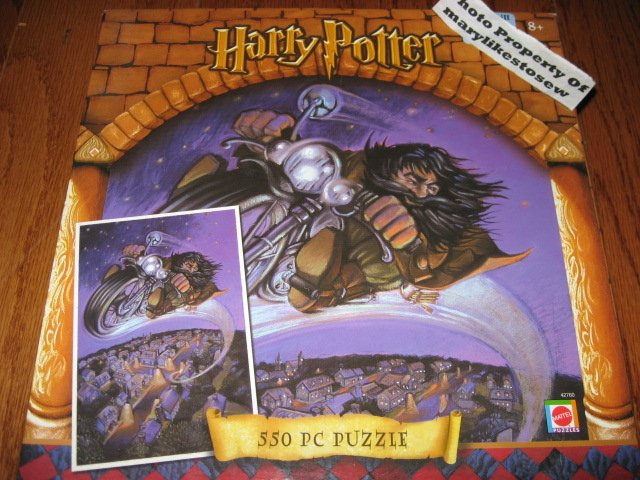 Harry Potter Rubeus Hagrid Motorcycle 550 Piece Puzzle Brand New