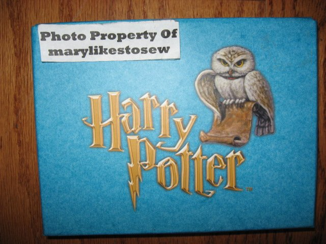 Harry Potter Stationery set with rubber stamp
