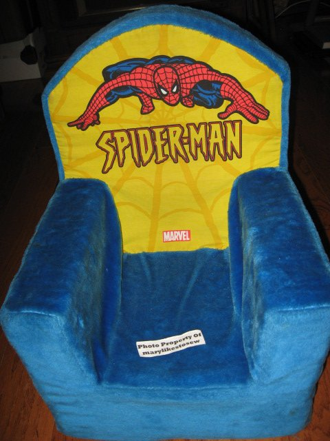 Spiderman Marvel 2004 pouting kids foam chair