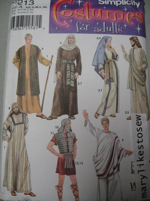 Simplicity Pattern 4213 Religous school play Costume Mary Apostle Soldier