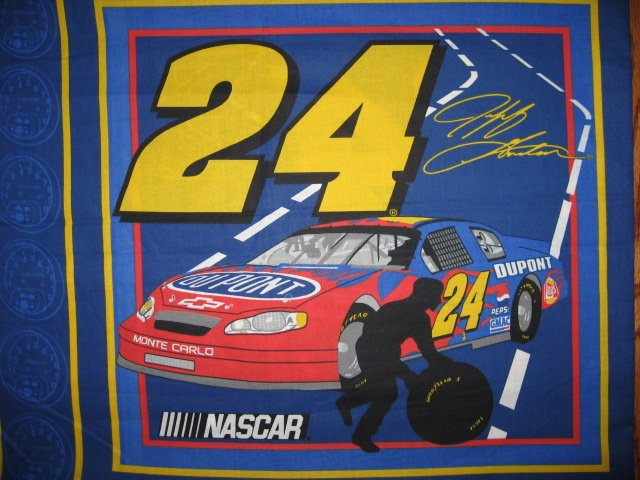 Jeff Gorden #24 Nascar  two Fabric pillow panels to sew