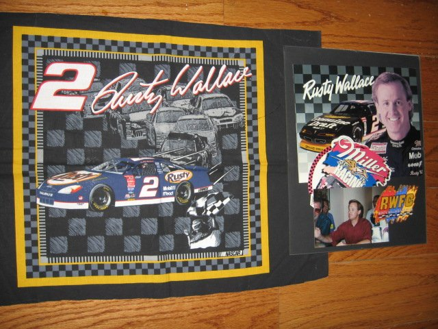 Rusty Wallace #2 Nascar one Fabric pillow panel and wall plaque