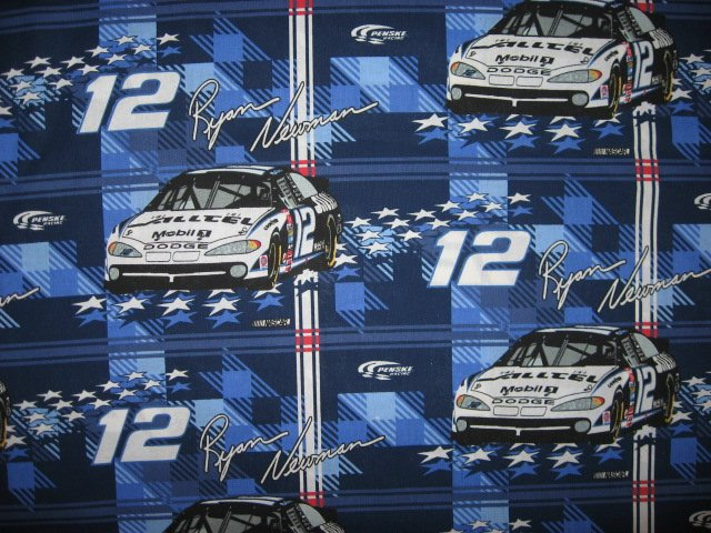 Ryan Newman #12 Nascar Race car Fabric by the yard to sew