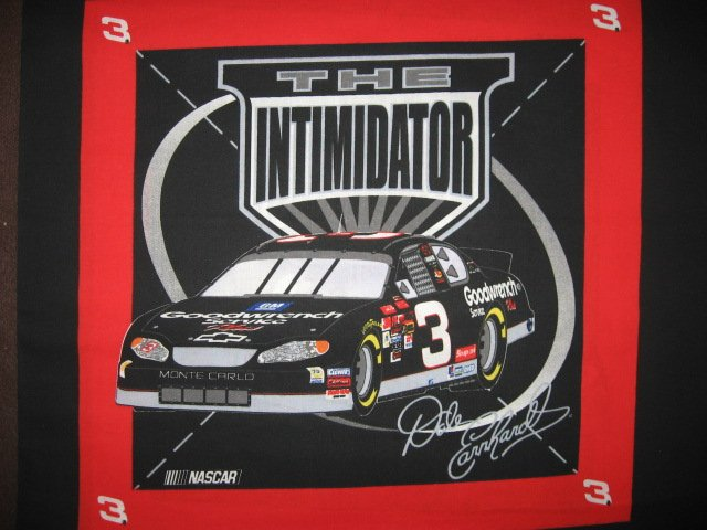Dale Earnhardt Senior #3 Nascar two of the same Fabric pillow panels to sew