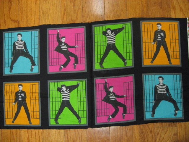 Elvis Presley soft sewing cotton Fabric set of Eight 9 X10 1/2 pillow panels