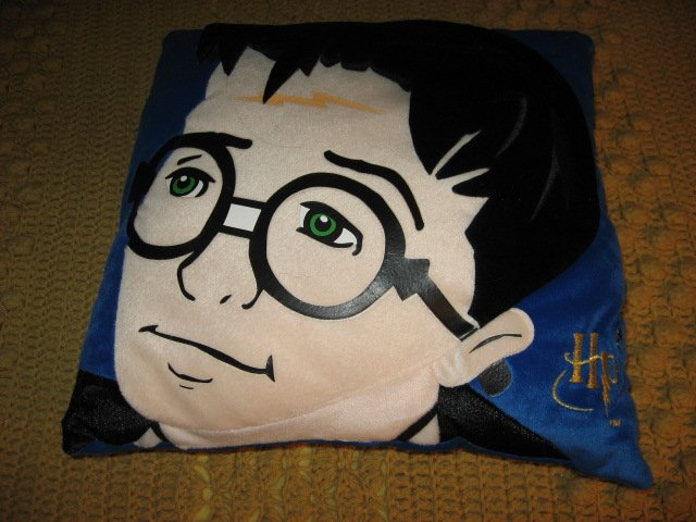 Harry Potter face on blue collectible Pillow