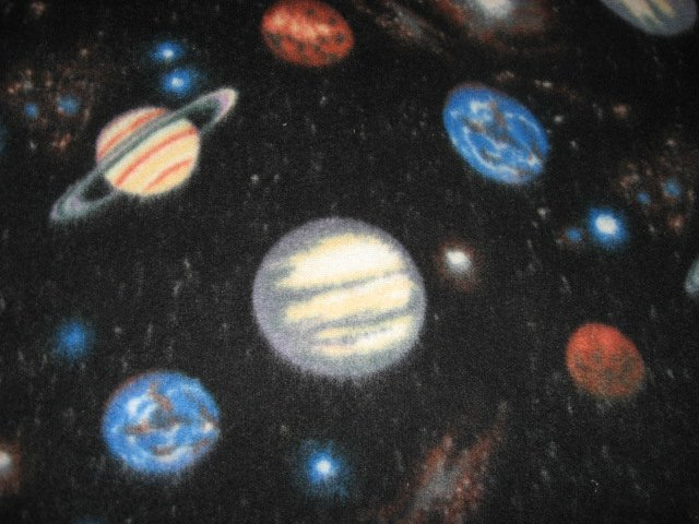 Universe and Planets and stars Black Fleece Blanket Rare