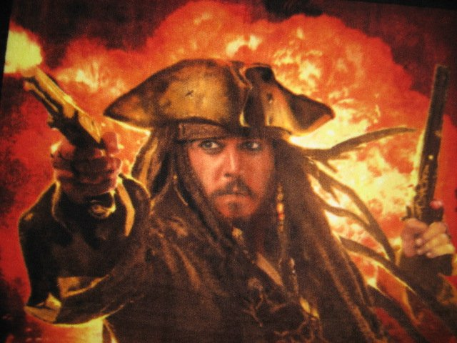 Image 0 of Pirates of The Caribbean Johnny Depp Captain Jack Sparrow Fleece blanket