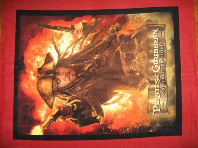 Image 1 of Pirates of The Caribbean Johnny Depp Captain Jack Sparrow Fleece blanket