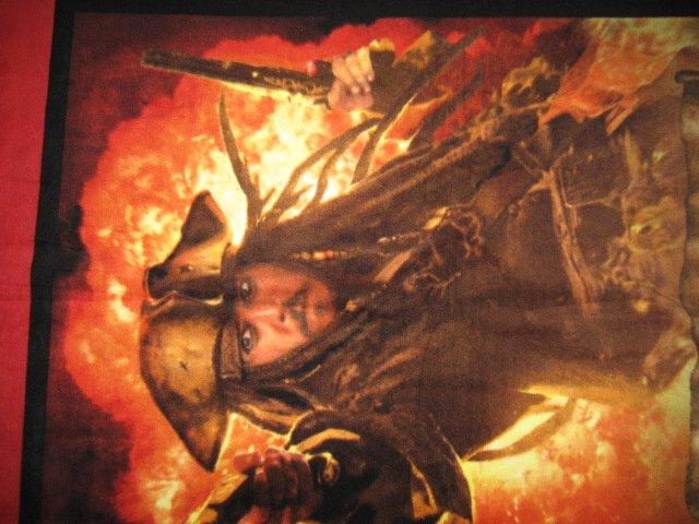 Image 2 of Pirates of The Caribbean Johnny Depp Captain Jack Sparrow Fleece blanket