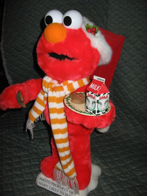 Image 1 of Christmas Elmo Santa doll 21