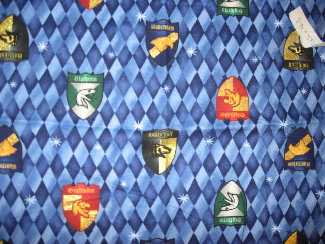 Harry Potter Glitter House Shields Cotton Fabric 1 4 Yard