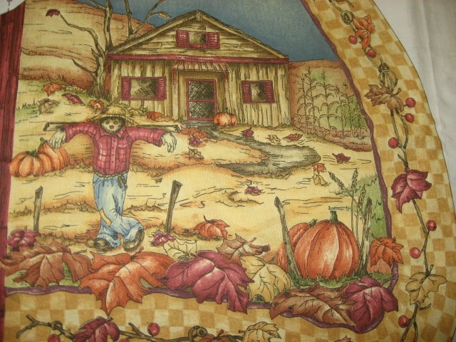 Fall harvest country farm fabric vest Panel to sew
