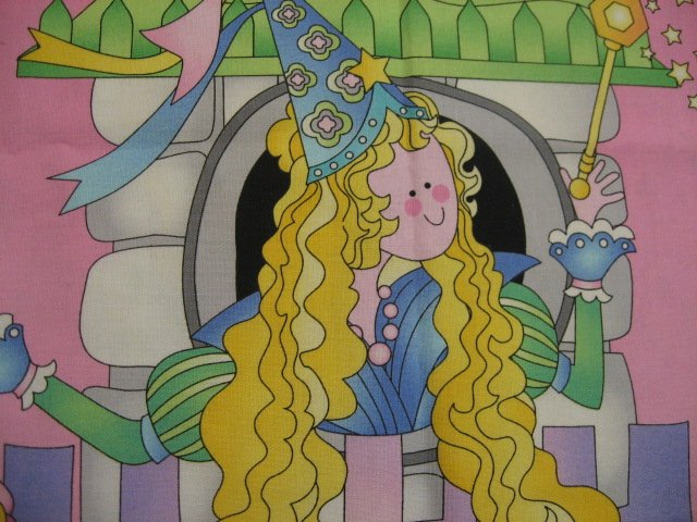 Fairy Princess Briar Rose Castle fabric Panel to Sew