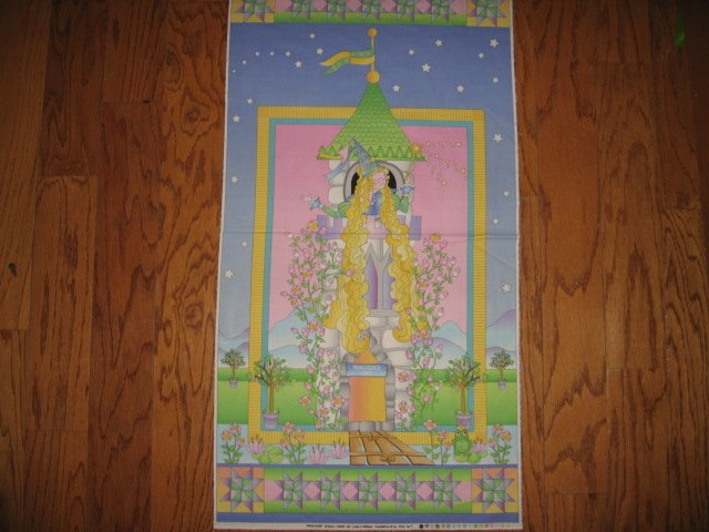 Image 1 of Briar Rose Fairy Princess Castle Avlyn fabric Panel to Sew
