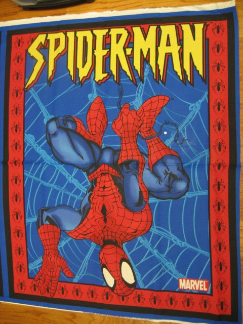 Image 0 of Spiderman super hero Licensed fabric wall quilt throw panel to sew