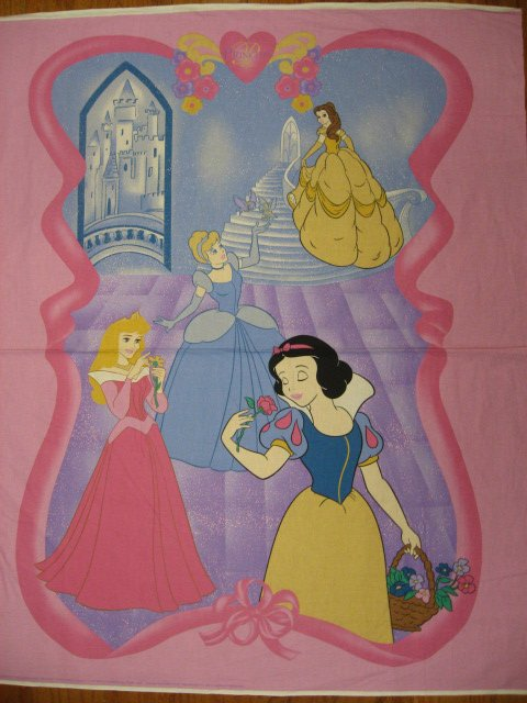 Disney Snow White Cinderella and Belle Fabric wall or child  panel to sew /