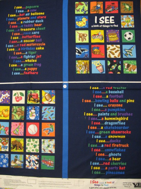 Image 1 of I See I spy child Soft Book or Wall Panel to sew Teacher /