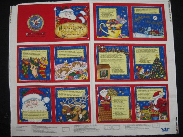 Mary Engelbreit Night Before Christmas Soft book fabric panel to sew