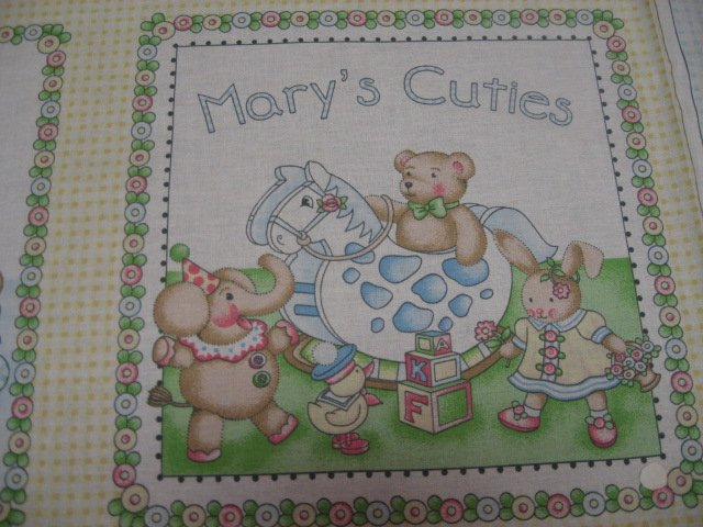 Image 1 of Mary Engelbreit Little Cuties Soft Book Fabric Panel to sew /