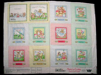 Mary Engelbreit Little Cuties Soft Book Fabric Panel to sew MORE under licensed