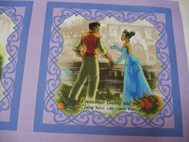 Image 1 of Disney Princess Frog Thomas Kinkade Soft Book fabric Panel to sew /