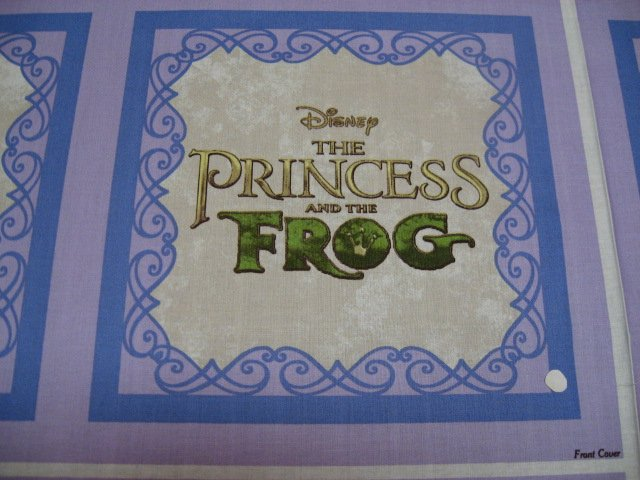 Image 2 of Disney Princess Frog Thomas Kinkade Soft Book fabric Panel to sew /