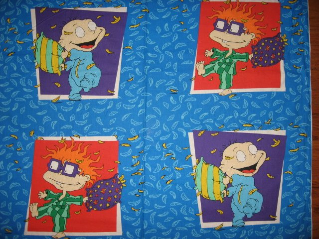 Chuckie pillow fight Fabric Pillow Panel set to sew