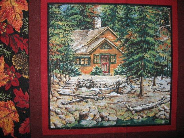 Image 2 of Deer turkey dog cabin ducks fishing geer fabric pillow panel set of six