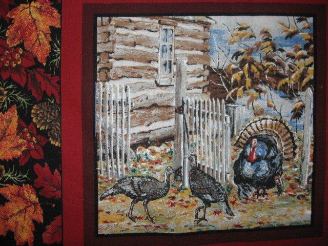 Image 4 of Deer turkey dog cabin ducks fishing geer fabric pillow panel set of six