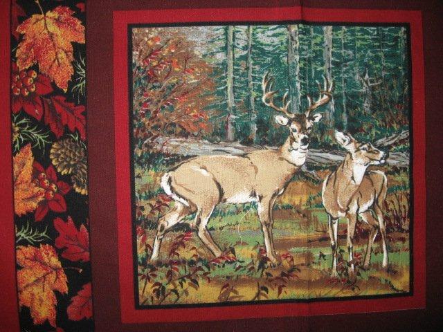 Image 5 of Deer turkey dog cabin ducks fishing geer fabric pillow panel set of six