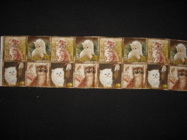 Image 0 of Cats and kittens Artist Giordano Pictures sixteen squares of cotton fabric