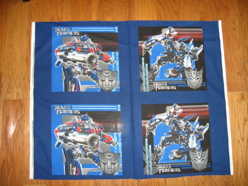 Transformers Hasbro Movie 4 Pillow Panels New Fabric