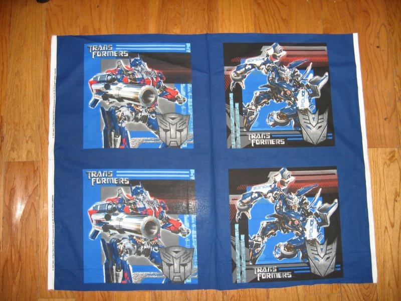 Transformers Hasbro Movie 4 Pillow Panels New Fabric