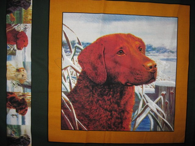 Image 0 of Rust Brown Labrador Retriever Dog two Fabric Pillow Panels to sew